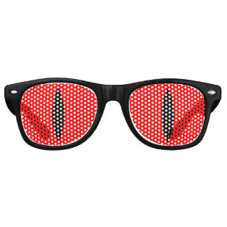 Halloween Costume Vampire Eyes Glasses. (Red) Retro Sunglasses