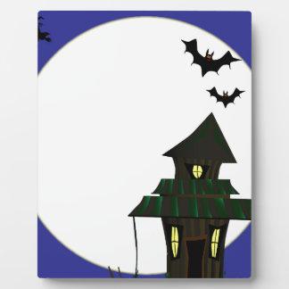 Halloween Cottoge Plaque