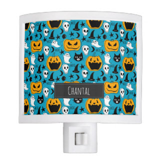 Halloween Creatures Illustration with Name Nite Lites
