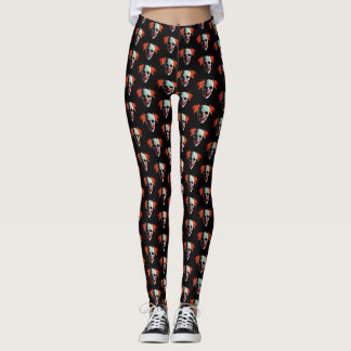 Halloween Creepy Clown Leggings