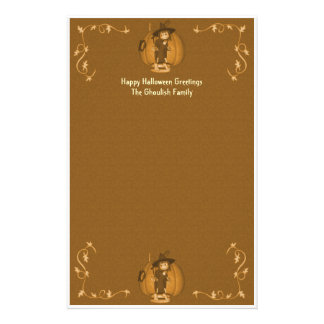 Halloween Creepy Kid Witches Stationery