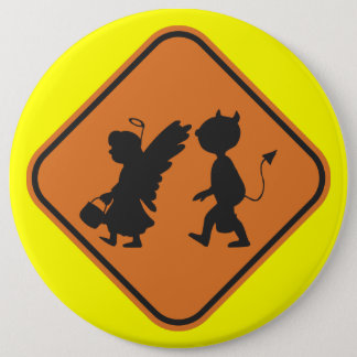 Halloween Crossing 6 Inch Round Button