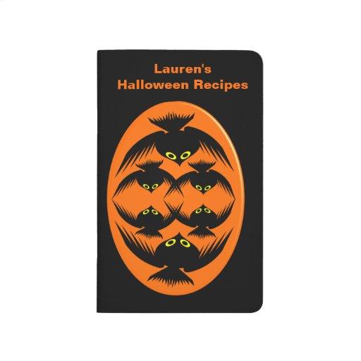 Halloween Crows Customizable Recipe Journal