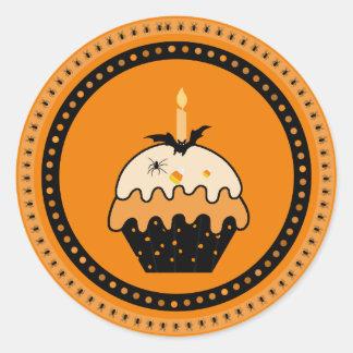 Halloween Cupcake Stickers