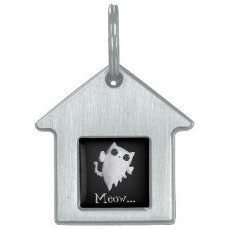 Halloween cute ghost cat pet tag