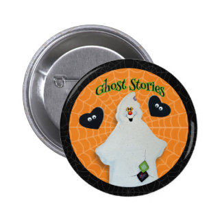 Halloween - Cute Ghost with Spooky Hearts 2 Inch Round Button