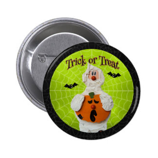 Halloween - Cute Mummy and Pumpkin 2 Inch Round Button
