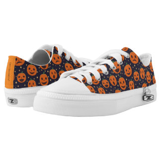 Halloween Cute Pumpkin Pattern Jack-O-Lantern Low-Top Sneakers