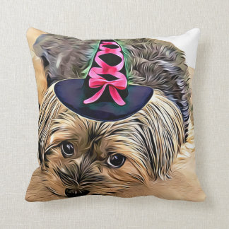 Halloween Cute Yorkshire Terrier Dog,Yorkie Throw Pillow