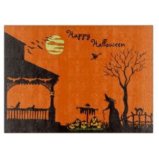 Halloween cutting board,witches,scarecrow,skull boards