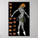 Halloween Dance Steampunk Rusty Goth Mannequin Poster