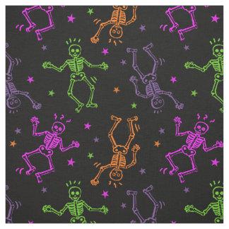Halloween Dancing Skeletons Fabric