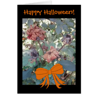 Halloween Dead Flowers Photo 2 Funny Message Card