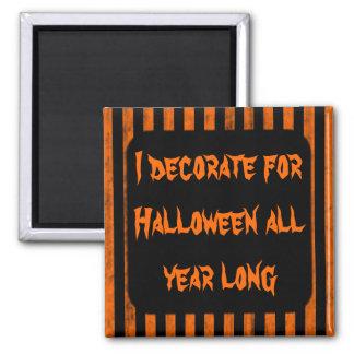 Halloween decorating fun square magnet