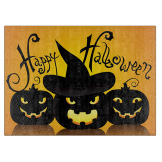 Halloween Decorative Glass Cutting Board/Pumpkins Boards