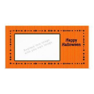 Halloween Design with Stars Custom Photo Card