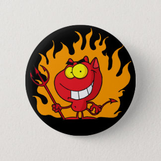 Halloween Devil Button