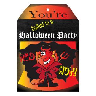 "Halloween Devilish Party 5"" X 7"" Invitation Card"