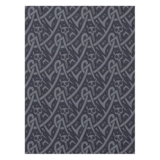 Halloween devils, skulls geometric pattern tablecloth