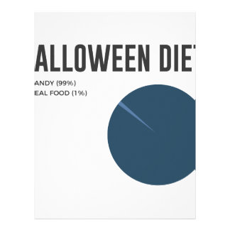 Halloween Diet Sweets Treats and Candy Design Letterhead