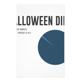Halloween Diet Sweets Treats and Candy Design Stationery