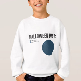 Halloween Diet Sweets Treats and Candy Design Sweatshirt