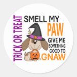 Halloween Dog Smell My Paw 2 Round Sticker