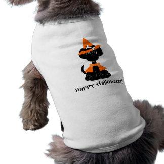 Halloween Dog Witch T-Shirt Dog Tee