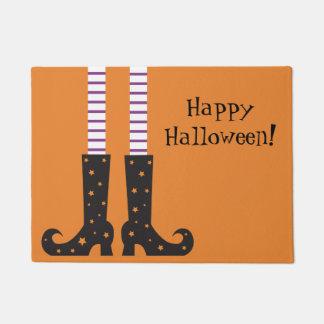 Halloween Door Mat with Witch Feet