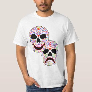 Halloween DOTD Comedy-Tragedy Skulls T-Shirt