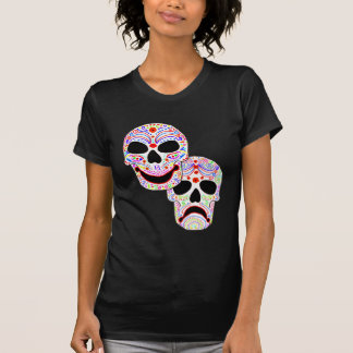 Halloween DOTD Comedy-Tragedy Skulls Tees