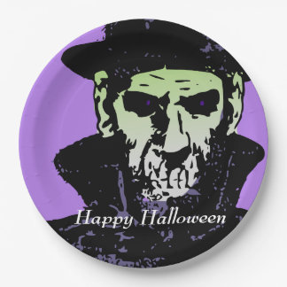 Halloween Dr. Death Paper Plate