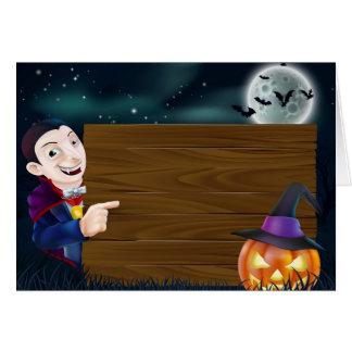 Halloween Dracula wooden sign Card