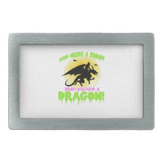 Halloween dragon tee rectangular belt buckle
