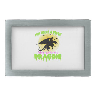 Halloween dragon tee rectangular belt buckles