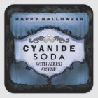 Halloween Drink Label - Eerie Blue Large Square