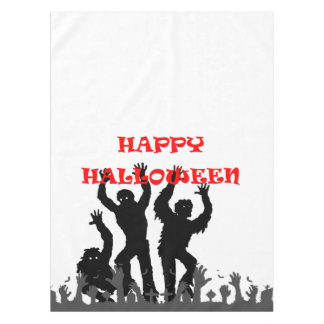 Halloween drooling zombie tablecloth