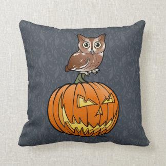 Halloween Eastern Screech Owl Throw Pillow