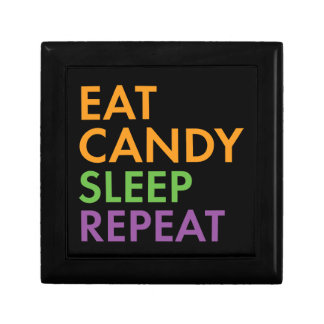 Halloween - Eat Candy, Sleep, Repeat - Novelty Gift Box