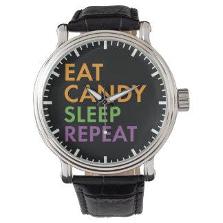 Halloween - Eat Candy, Sleep, Repeat - Novelty Watch