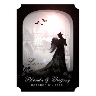 Halloween Elegant Love Silhouette Together With Card