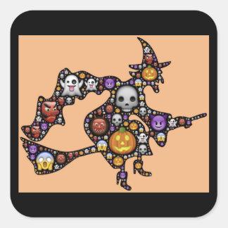 halloween emoji witch stickers