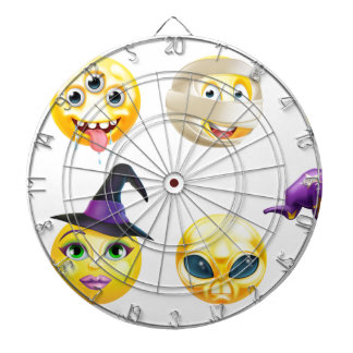 Halloween Emoticon Icon Set Dartboard