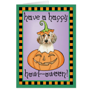 Halloween English Setter Card
