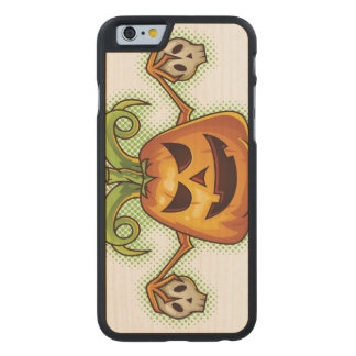 Halloween Evil Scary Pumpkin #2 Carved® Maple iPhone 6 Case