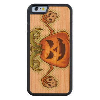 Halloween Evil Scary Pumpkin #2 Cherry iPhone 6 Bumper Case