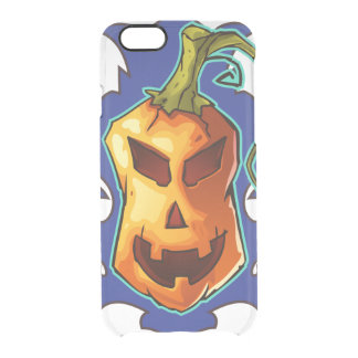 Halloween Evil Scary Pumpkin Clear iPhone 6/6S Case