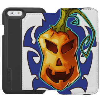 Halloween Evil Scary Pumpkin Incipio Watson™ iPhone 6 Wallet Case