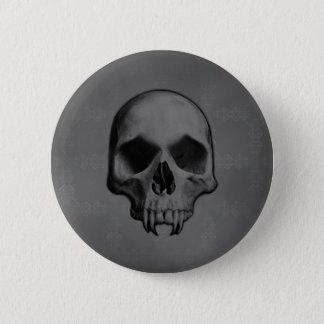 Halloween evil skull 2 inch round button