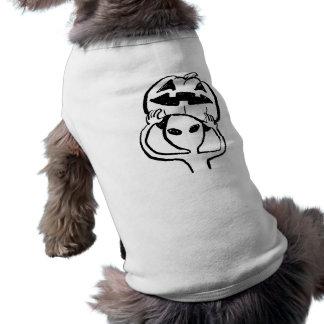 < Halloween extraterrestrial (black) >Halloween Al Dog T-shirt